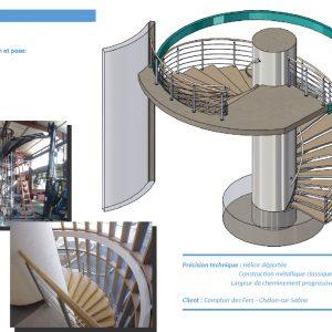 Escalier hélicoïdal déporté