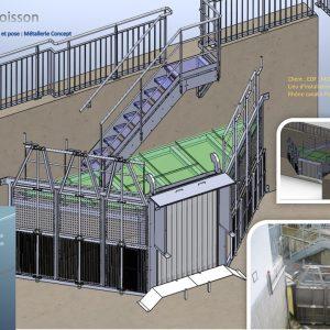 Réflecteur et structure de la passe à poisson du barrage de Jons (69)